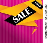 sale banner on colorful... | Shutterstock .eps vector #552235282