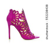 high heels ankle boots in pink... | Shutterstock . vector #552238438