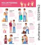 volunteering infographic.... | Shutterstock .eps vector #552239962