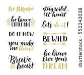set of hand drawn quotes about... | Shutterstock .eps vector #552242038
