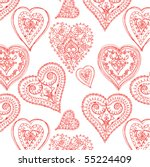 hearts seamless pattern | Shutterstock .eps vector #55224409