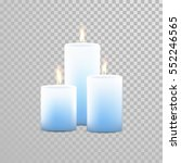 aromatherapy candles. vector 3d ... | Shutterstock .eps vector #552246565