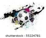 grunge ink soccer design element   Shutterstock .eps vector #55224781