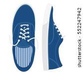 blue sneakers. vector. | Shutterstock .eps vector #552247942