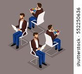 trend isometric people set 2 ... | Shutterstock .eps vector #552250636