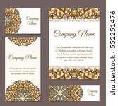 vector template business card.... | Shutterstock .eps vector #552251476