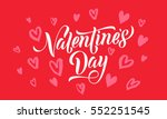 valentines day card with red... | Shutterstock .eps vector #552251545