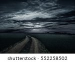 countryroad night bright... | Shutterstock . vector #552258502