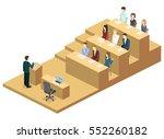 isometric flat 3d concept... | Shutterstock .eps vector #552260182