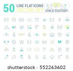 vector graphic set. icons in... | Shutterstock .eps vector #552263602