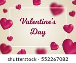 valentine's day concept. vector ... | Shutterstock .eps vector #552267082