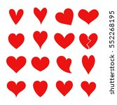 set of red hearts. vector... | Shutterstock .eps vector #552268195