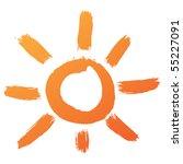 hand drawn sun icon
