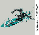 surfer with a graphic trail | Shutterstock .eps vector #552271465