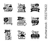 vector calligraphy with decor... | Shutterstock .eps vector #552273622
