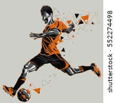 soccer player with a graphic... | Shutterstock .eps vector #552274498