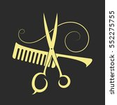 scissors and comb beauty salon... | Shutterstock .eps vector #552275755