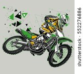 motocross rider with a graphic...