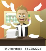 man hate his job have trouble... | Shutterstock .eps vector #552282226