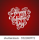 happy valentine's day lettering ... | Shutterstock .eps vector #552283972