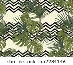 palm leaves. tropical print.... | Shutterstock .eps vector #552284146