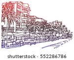 panorama illustration. hand... | Shutterstock .eps vector #552286786