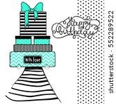 happy birthday greeting card ...   Shutterstock .eps vector #552289522