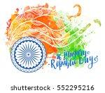 inscription happy indian... | Shutterstock .eps vector #552295216