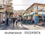 tel aviv   november 22  street... | Shutterstock . vector #552295876