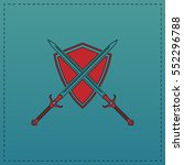 heraldry red vector icon with... | Shutterstock .eps vector #552296788