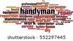 handyman word cloud concept.... | Shutterstock .eps vector #552297445