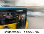 Bus In Fast Motion On A...