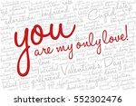 valentine's day word cloud... | Shutterstock .eps vector #552302476