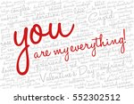 valentine's day word cloud... | Shutterstock .eps vector #552302512