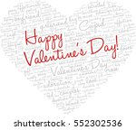 valentine's day word cloud... | Shutterstock .eps vector #552302536