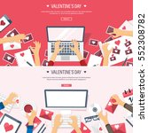 vector illustration. flat... | Shutterstock .eps vector #552308782