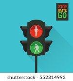 traffic light for people | Shutterstock . vector #552314992