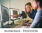 programmer working in a... | Shutterstock . vector #552315256