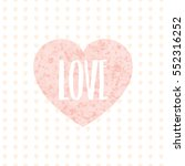 card with pink hearts. | Shutterstock .eps vector #552316252