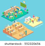 isometric flat 3d isolated... | Shutterstock .eps vector #552320656