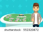 young man standing near the... | Shutterstock .eps vector #552320872