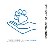 line icon  dog adoption   Shutterstock .eps vector #552321868