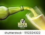vector beer advertisement  ... | Shutterstock .eps vector #552324322