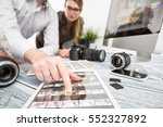 photographer journalist camera... | Shutterstock . vector #552327892