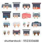 keyboard human hands computer... | Shutterstock .eps vector #552333688