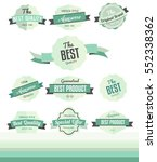 set of retro labels  flat... | Shutterstock .eps vector #552338362