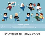 cartoon business people mix... | Shutterstock .eps vector #552339706