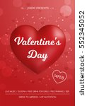 Valentine's Day Flyer. 3d Red...