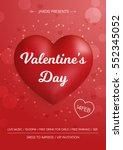 Valentine's Day Flyer. 3d Red...
