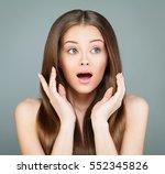 beauty fashion portrait of... | Shutterstock . vector #552345826